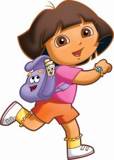 Dora-The-Explorer-backpack-and-map